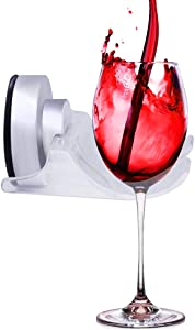 SYIDINZN Wine Beer Cup Holder Caddy Organizer for Bath & Shower | Bathroom Drink Holder - Portable Suction Cup Cupholder for Wine Glasses, Shaver, Cellphone, Towel Etc (1 Pack)