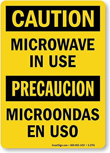 Amazon.com: Microwave In Use / Microondas En Uso, Adhesive ...