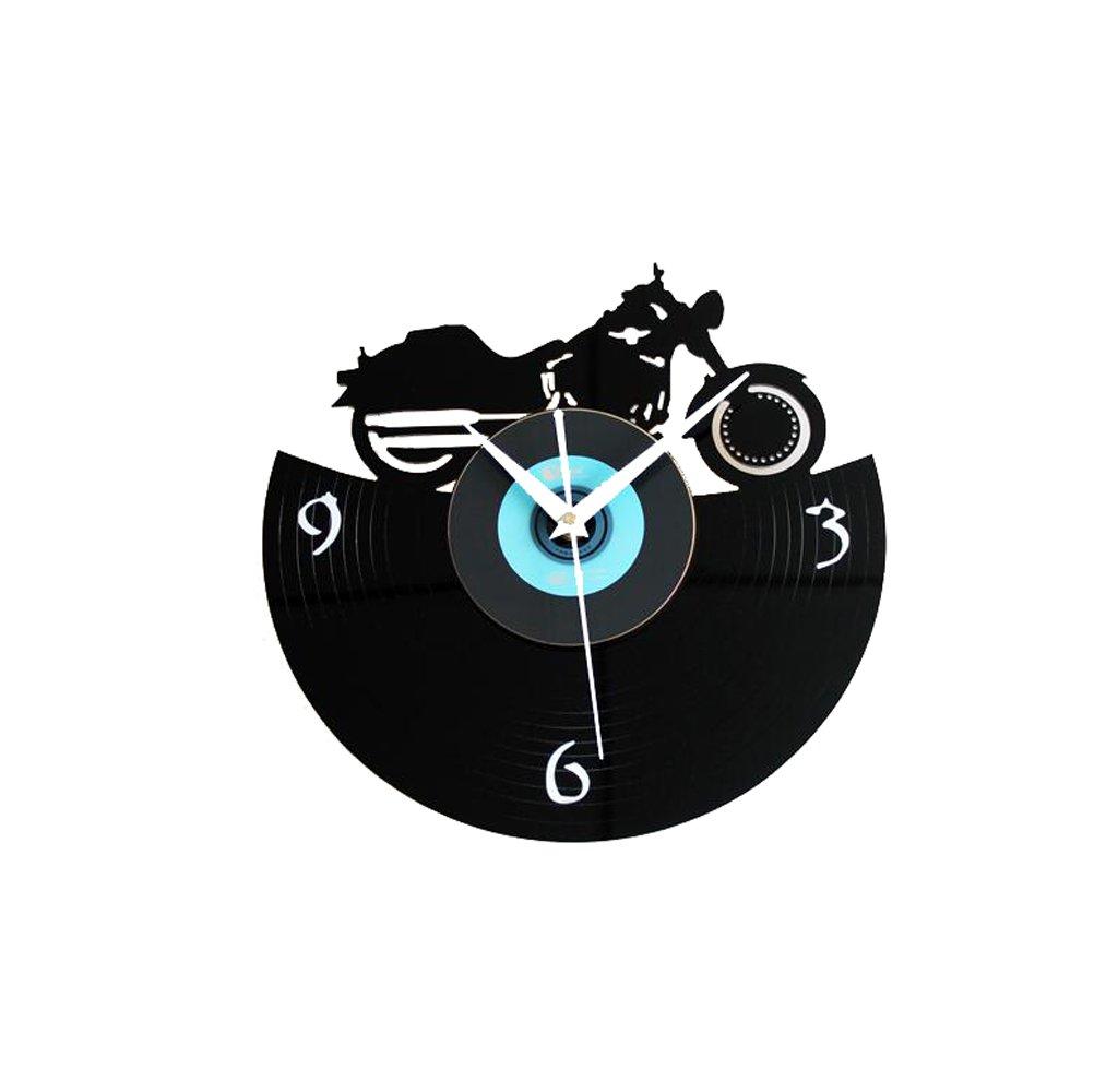 LQQGXL Wall clock fashion creative vintage motorcycle movie wall clock Creative clock ( Color : A )