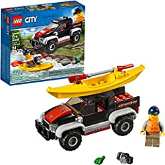 Check out all the fantastic wildlife living along the river with this fun LEGO City 60240 Kayak Adventure set! Go on an exhilarating outdoor adventure with this set that features a sturdy off-road truck with large front bumper, open bed, mini...