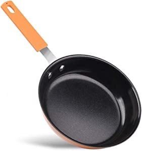 Mini Fry Pan,Nonstick Small 6.5 inch Skillet Mini Egg Omelette Pan Round Griddles Aluminum Cooker Pan Pancake Cookware
