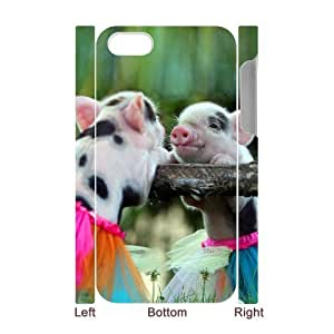 3D Bumper Plastic Case Of Cute Pig customized case For Iphone 4/4s