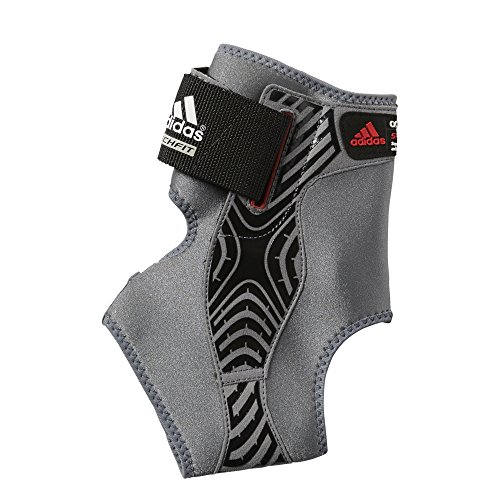 adidas Adizero Speedwrap Ankle Brace, Medium Lead/Black, Medium