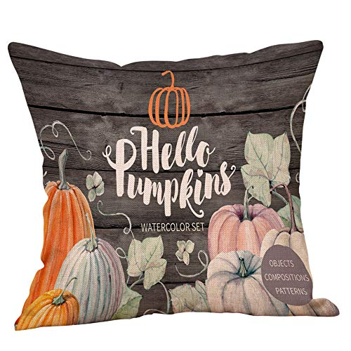 Yeefant Decorative Pillowcase Cover, Halloween Pillow Case Linen Sofa Pumpkin Ghosts Waist Throw Cushion Cases Home Decor 18x18 inch