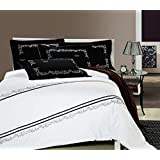 GL&G European cotton satin embroidery four - piece fashion simple embroidery cotton quilt bed linen,D,null