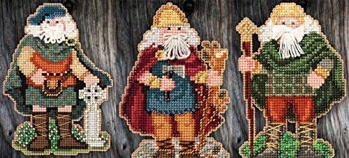 Wales Santa Celtic Santas Counted Cross Stitch Kit-3x4.75 14 Count