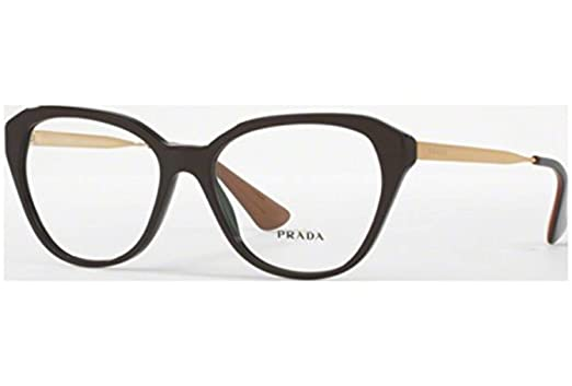 ef1b2d81202f Prada Women's PR 28SV Eyeglasses Brown 54mm at Amazon Women's ...