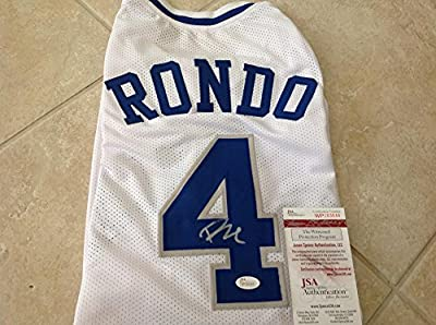 Rajon Rondo Kentucky Wildcats Signed Xl Custom Jersey Jsa Wp283644