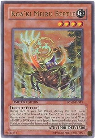 SOVR-ENSP1 Koa/'Ki Meiru Beetle Ultra Rare Limited Edition YuGiOh Card