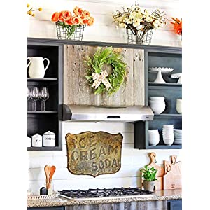Tiny Land 22 Inches Spring Wreath for Front Door with Knotted Bow, Handcrafted Wicker Rattan Loop Frame | Faux Home Decorative Display | Rustic, Farmhouse Decor 2