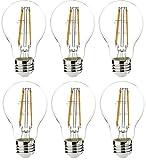 AmazonBasics 60 Watt Equivalent, Clear, Non-Dimmable, A19 LED Light Bulb   6-Pack