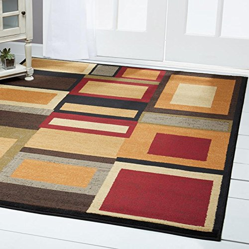 "Home Dynamix HD1196-990 Royalty Cassi Area Rug 7'8"" x10'4, Geometric Multi/Red"