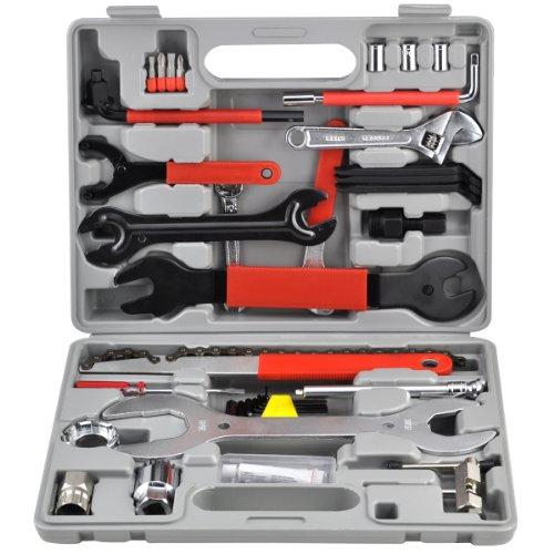 Yahee Fahrrad Werkzeug Reparaturset Tool Set im Werkzeugkoffer (44tlg.-Set)(groß)
