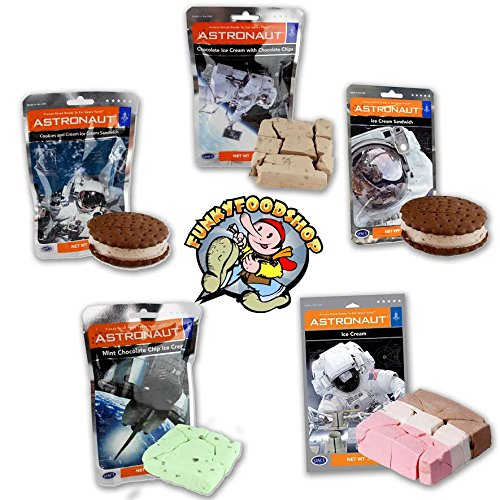 Astronaut Ice Cream Variety Pack – 10 Packs (Five Different Flavors)