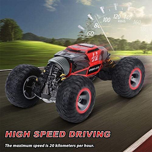 ZXYMUU RC Auto 1:16 Off-Road Ferngesteuertes Auto 360 ° Stunt Driften Kletterfahrzeug-4WD Deformable All-Terrain Doppelseitiges Auto Für Kinder Erwachsene