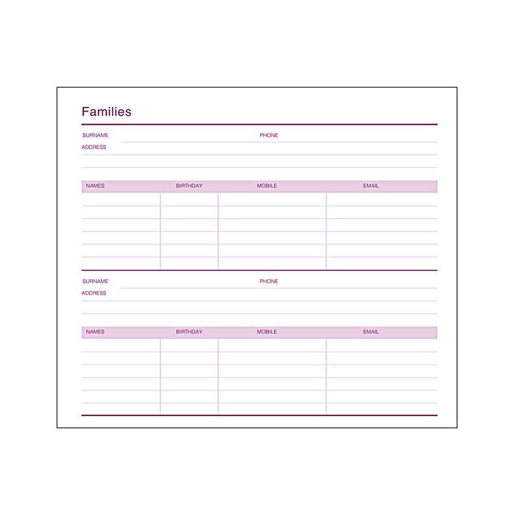 the family address book pink mum s office holiday presents
