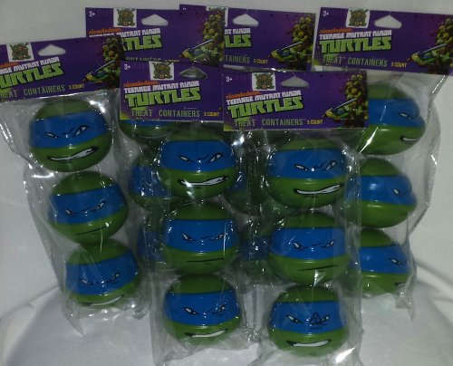[Nickelodeon Teenage Mutant Ninja Turtle; TMNT Party Favor Treat Containers; Goodie Bags Treats; Set of] (Nickelodeon Teenage Mutant Ninja Turtles Treat Bags)