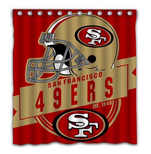 (Felikey Custom San Francisco 49ers Waterproof Shower Curtain Colorful Bathroom Decor Size 66x72 Inches)