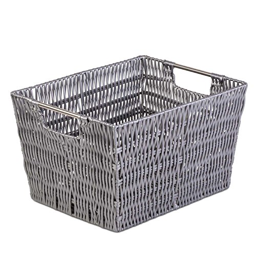 [Woven Large Decorative Storage Basket - Shelf Closet Organizer w/ Ample Space - Incredibly Versatile - Highly Durable Build - Easy to Clean - Attractive Design - 11