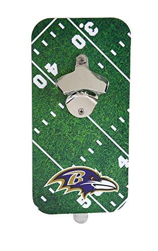 (Team Sports America NFL Baltimore Ravens Magnetic Clink N Drink Bottle Opener, Small, Multicolored)