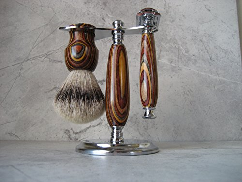 Wet Shaving Set (Dymondwood) by Craftiness