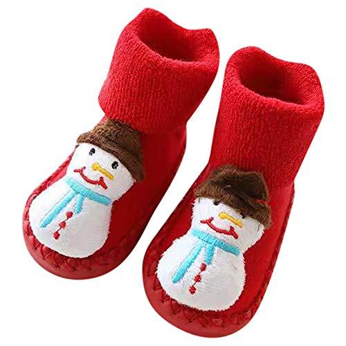 (Londony ♥‿♥ Toddler Newborn Christmas Socks,Baby Boys Girls Floor Socks Anti-Slip Baby Step Socks for 0-24 Months)