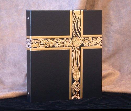 Ceremonial Binder - Black with Gold Foil (1-inch Spine)