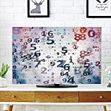 LCD TV dust cover Customizable,Abstract Home Decor,Digital Code Numbers Computer Database Science Incompatiblemation Technology Themed Art,Teal Black,Graph Customization Design compatible 70'' TV