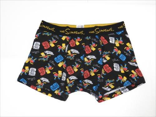 The Simpsons Men's Boxer Shorts/Bad Words BK [L Size]