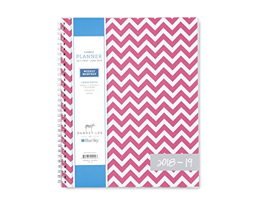 """Dabney Lee for Blue Sky 2018-2019 Academic Year Weekly & Monthly Planner, Flexible Cover, Twin-Wire Binding, 8.5"""" x 11"""", Ollie -  Blue Sky the Color of Imagination, LLC, 100287-A19"""
