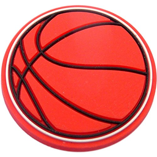 Basketball Rubber Charm for Wristbands and Shoes (Basketball Shoe Charm)