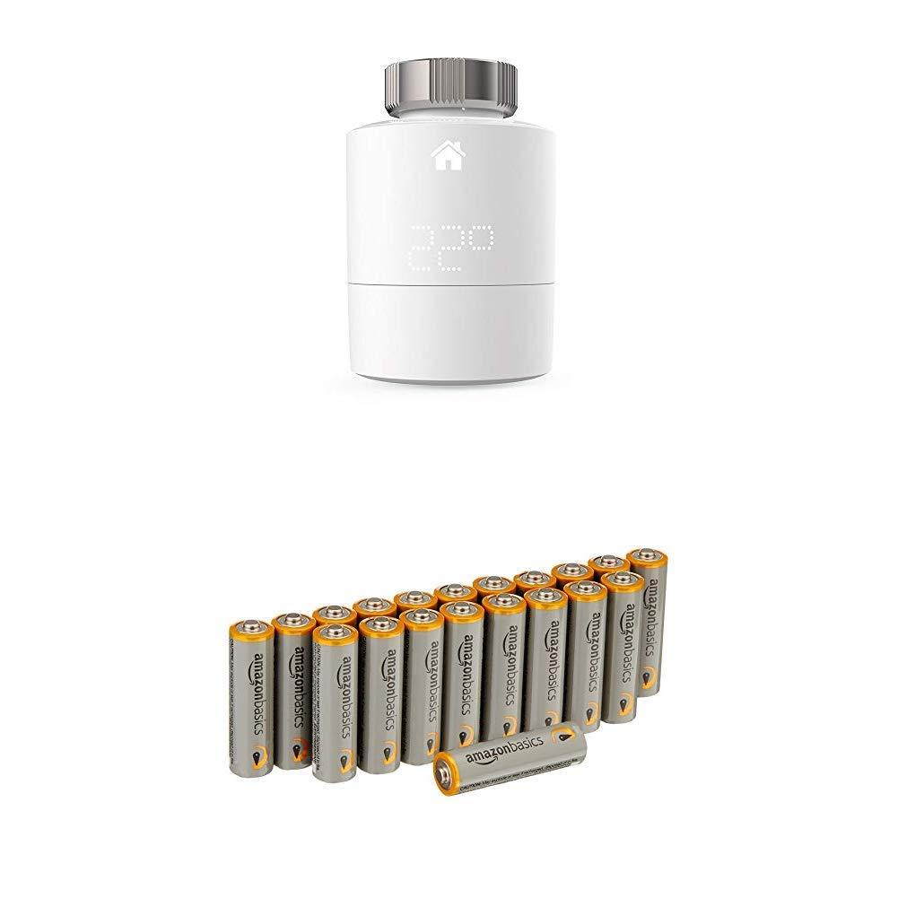tado° Tête Thermostatique Intelligente pour radiateur (produit supplémentaire) - contrôle intelligent du chauffage par géolocalisation via smartphone avec les batteries Basics chauffage avec thermostat radiateur thermostat