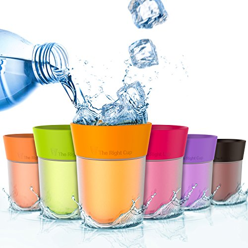 ​​Flavor Enhancing water Cup​- Pack of 6 flavored cups - Orange, Cola, Berry, Apple, Peach and Grape. Helps you drink water instead of soda. by The Right Cup by The Right Cup
