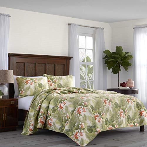 Tommy Bahama Topical Orchid Quilt Set, King (Twin Tropical Quilt Set)