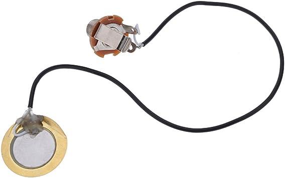 Andoer® Transductor Amplificador Precableado Piezo Jack Pickup ...