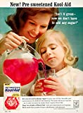 1964 Ad Kool-Aid Man Pre-Sweetened Packet Pitcher General Foods Drink Mix YWD2 - Original Print Ad