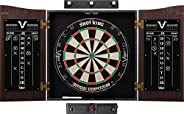 Viper Vault Cabinet & Shot King Sisal/Bristle Dartboard Ready-to-Play Bundle with Two Sets of Steel-Tip Da