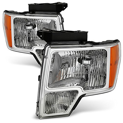 For 09-14 Ford F150 F-150 For Non Projector Headlight Model Pickup Truck Headlight Direct Replacement