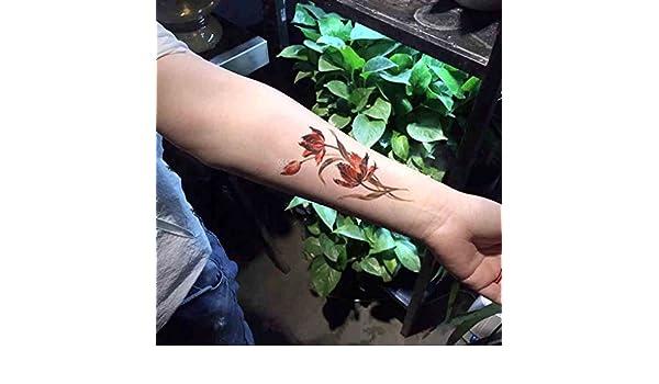 Zokey Pegatinas Tatuaje Temporal amapolas GFWS551: Amazon.es: Belleza