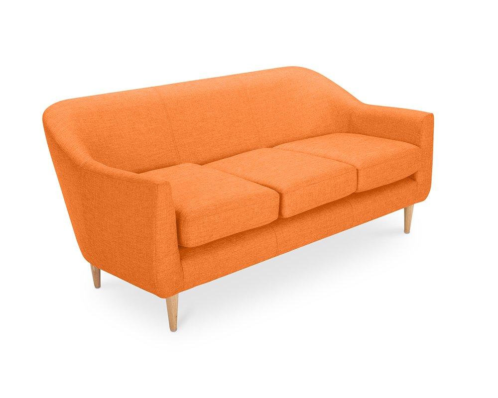 Oxydesign Sofa Naranja 3 plazas diseño escandinavo - Penny ...