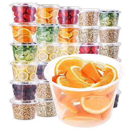 E-Gtong [30 Pack] Food Storage Containers with Lids (33 OZ), Meal Prep Plastic Containers, BPA Free Food Containers Leakproof & Stackable Bento Boxes - Microwaveable, Freezer and Dishwasher Safe