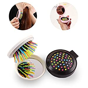 MLM Detangling Hair Brush -Rainbow Comb Pairs for Adults & Kids - Detangle Hair Easily With No Pain(pack of 3)