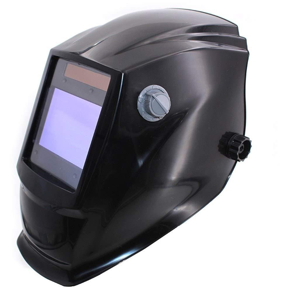 YUANYUAN521 Big View Eara 4 Arc Sensor DIN5-DIN13 Solar Auto Darkening TIG MIG MMA Grinding Welding Mask/Helmet/Welder Cap/Welder Glasses (Color : Black) by YUANYUAN521
