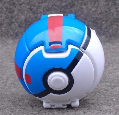 Pocket Monster Explosion Pokemon Pokeball Pikachu Master Model Toys   Blue