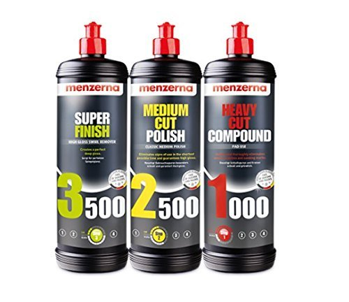 Menzerna Super 3500, Medium 2500, and Heavy 1000 Polishing Compound Kit