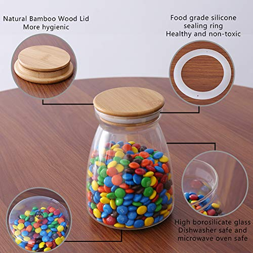 10530f4b22d9 77L Food Storage Jar for Chocolate, 32.4 FL OZ (960 ML), Food Storage Jar  with Sealed Bamboo Lid, Clear Glass Storage Canister for Serving Chocolate,  ...