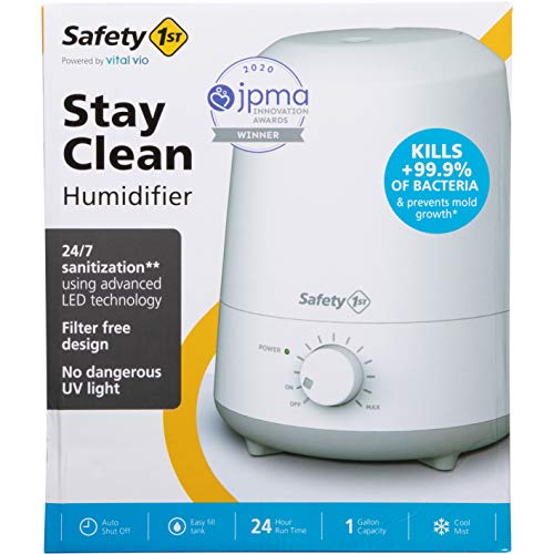 Safety 1st Stay Clean Humidifier - Kills Bacteria and Prevents Mold Growth
