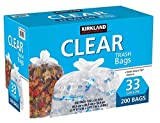 Kirkland Signature Trash Bag, Clear, 33 Gallon, 200 ABCZ (33 gal/clear/200 Count)