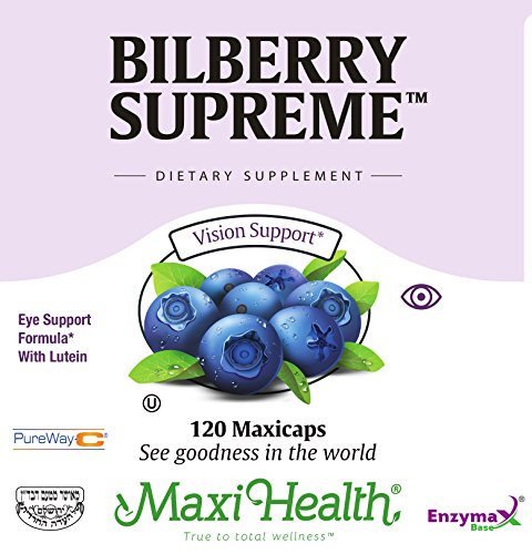 Maxi Health Bilberry Supreme with Eyebright and Lutein Eye Support Formula, 120 Count by Maxi Health (Image #3)