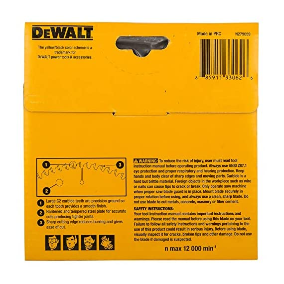 DEWALT DW03540 125mm 40T TCT Circular Saw Blade for cutting MDF,Plywood and Laminated Wood 4